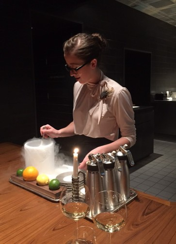 The Liquid Nitrogen Gin & Tonic is just one of many innovative concoctions at The Fat Duck.