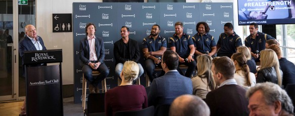 Stu emceed the launch of Dove Men's #RealStrength campaign, which featured five of the Qantas Wallabies sharing their thoughts on feelings, fear and fatherhood.